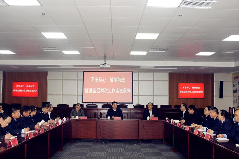 于文江在调研财税系统时强调  围绕中心 科学谋划 规范管理