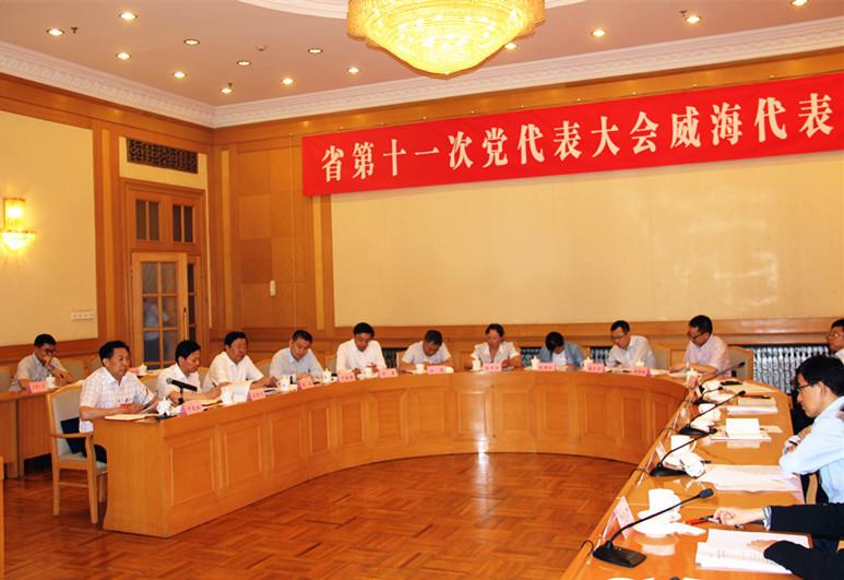 省第十一次党代会代表于文江在威海代表团讨论审议省党代会报告